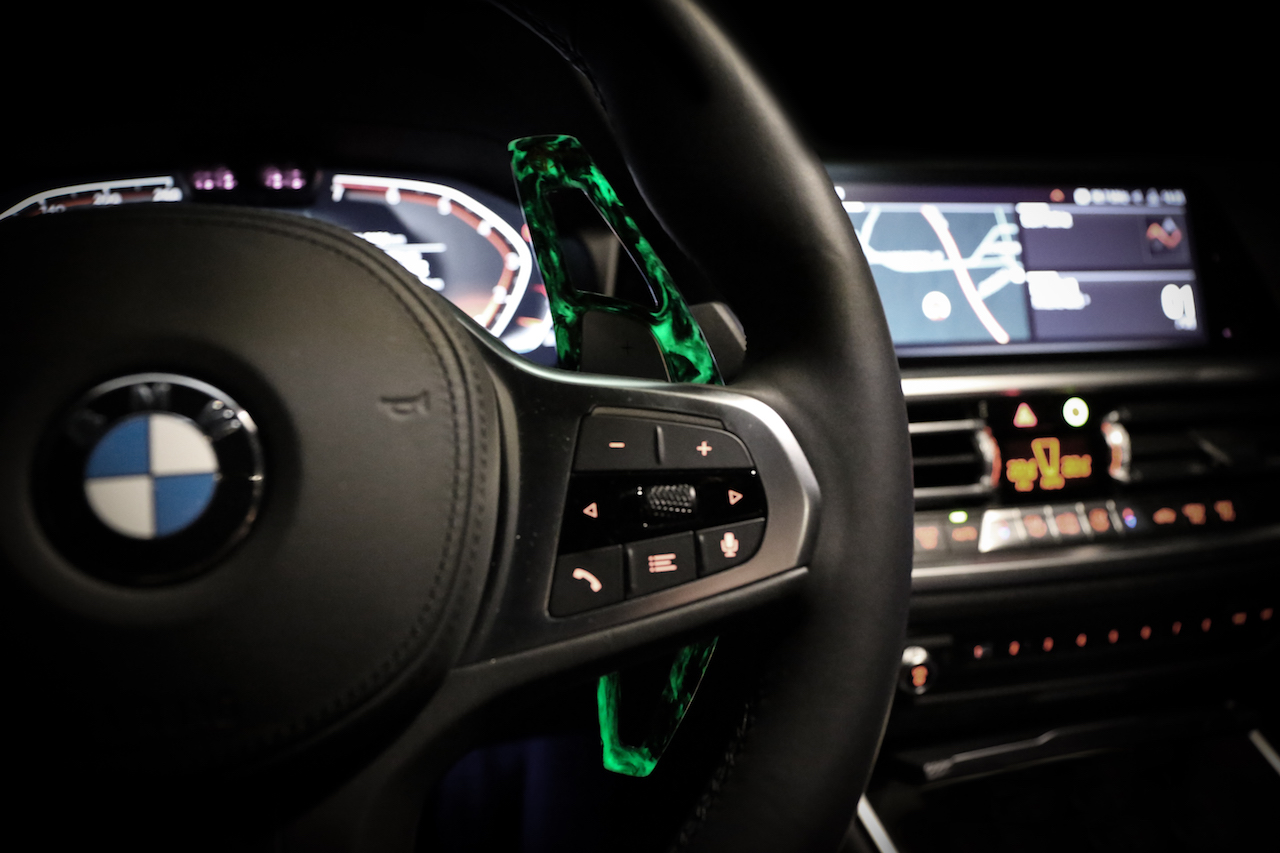 Name:  BMW G20 330 320 Armaspeed forged carbon fiber paddle shifters - luminous edition.jpg